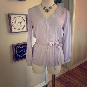 J. Crew silky lilac blouse